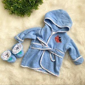 Baby Robe & Slipper Set